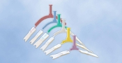 NeoBar Neonatal ET Tube Holder, Multiple Sizes, Various Colors, N709, N710, N711, N712, N713, N714, each